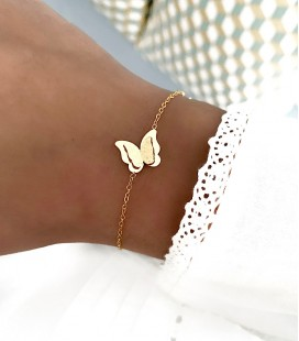 Bracelet PAPILLON Acier Or