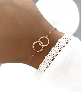 Bracelet MONA Acier Rosé