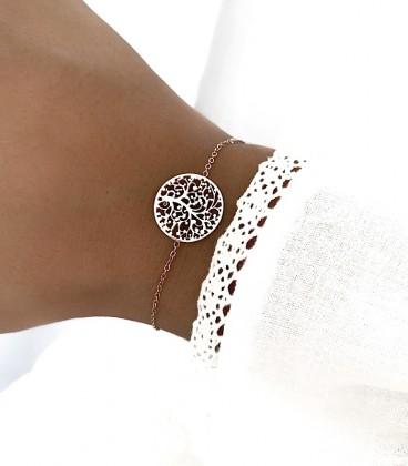 Bracelet ROSACE Acier Rosé