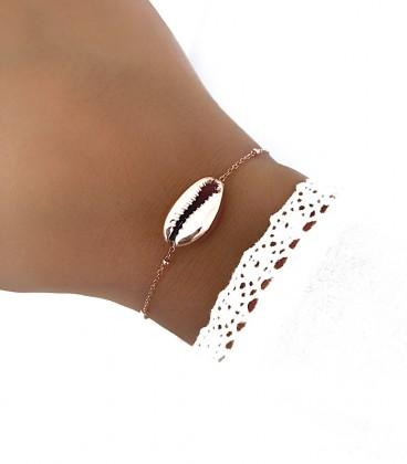 Bracelet COQUILLAGE Acier Rosé