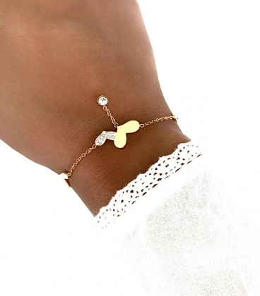 Bracelet CARLA Acier Rosé