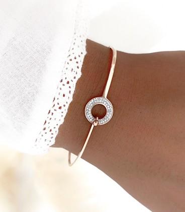 Bracelet AGATHE Acier Rosé