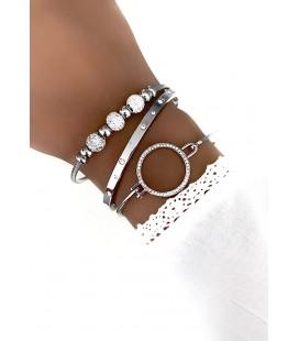 Bracelet Jonc JOANE Argenté