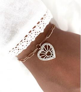 Bracelet CHIARA Acier Rosé