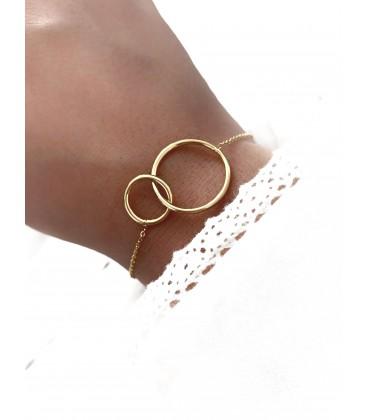 Bracelet CIRCLE Acier Or