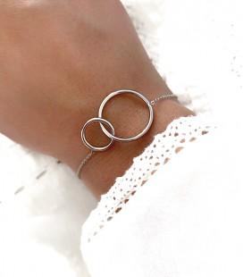 Bracelet CIRCLE Acier Argent