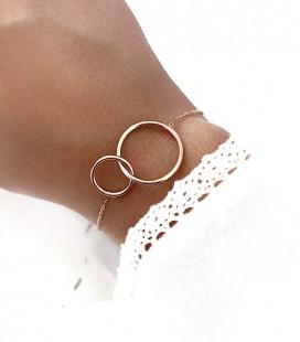 Bracelet CIRCLE Acier Rose