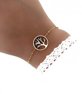 Bracelet ARBRE DE VIE Acier Or