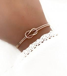 Bracelet MASSY Acier Rosé