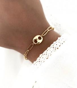 Bracelet GRAIN DE CAFÉ Acier Or