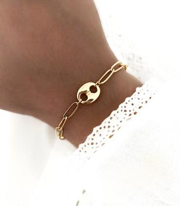 Bracelet ABBY Acier Or