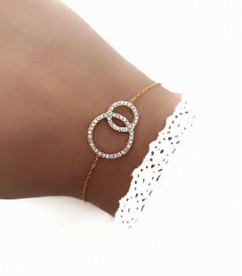 Bracelet NEELA Acier Or