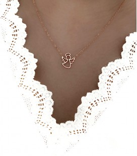 Collier ANGEL Acier Rose