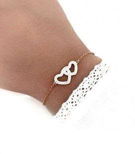 Bracelet MIRA Acier Or