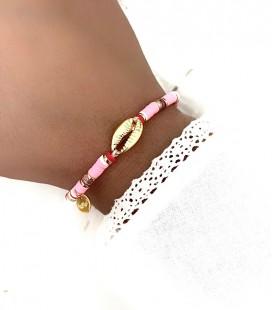 Bracelet LOUNA Rose Acier Or