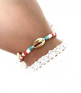 Bracelet LOUNA Blanc Acier Or