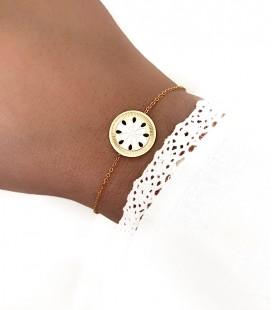 Bracelet JOYA Blanc Acier Doré