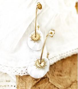 Boucles ELNA Acier Or