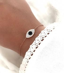 Bracelet VAENA Acier Rose