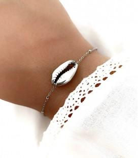 Bracelet COQUILLAGE Acier Argent