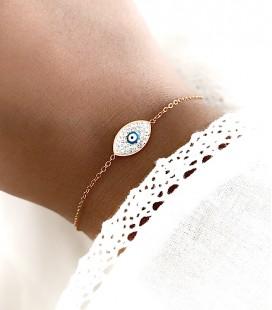 Bracelet EYE Acier Or