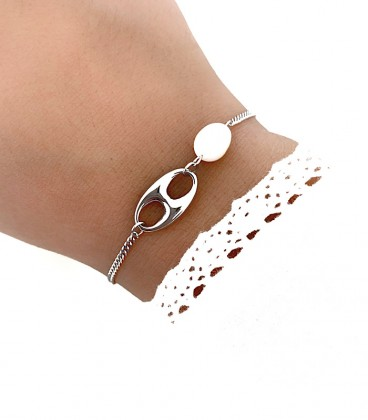 Bracelet AGATHA Acier Argent