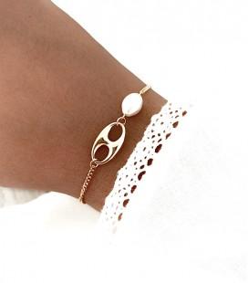 Bracelet AGATHA Acier Or