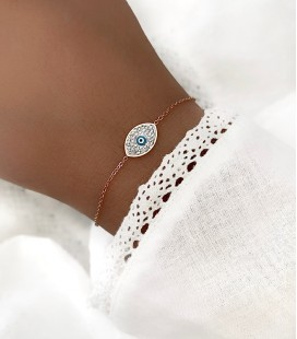 Bracelet EYE Acier Rose